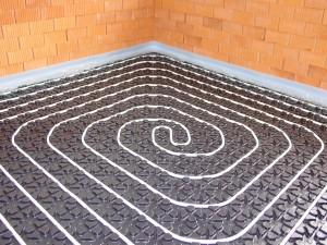 Die Fußbodenheizung