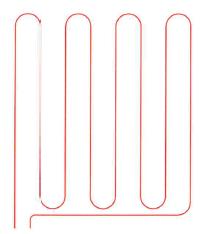 Beispiel für einen Heizkreis (Mäander-Verlegung)