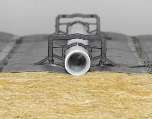 Tackerplatte mit Wärme- und Trittschalldämmung aus Mineralwolle